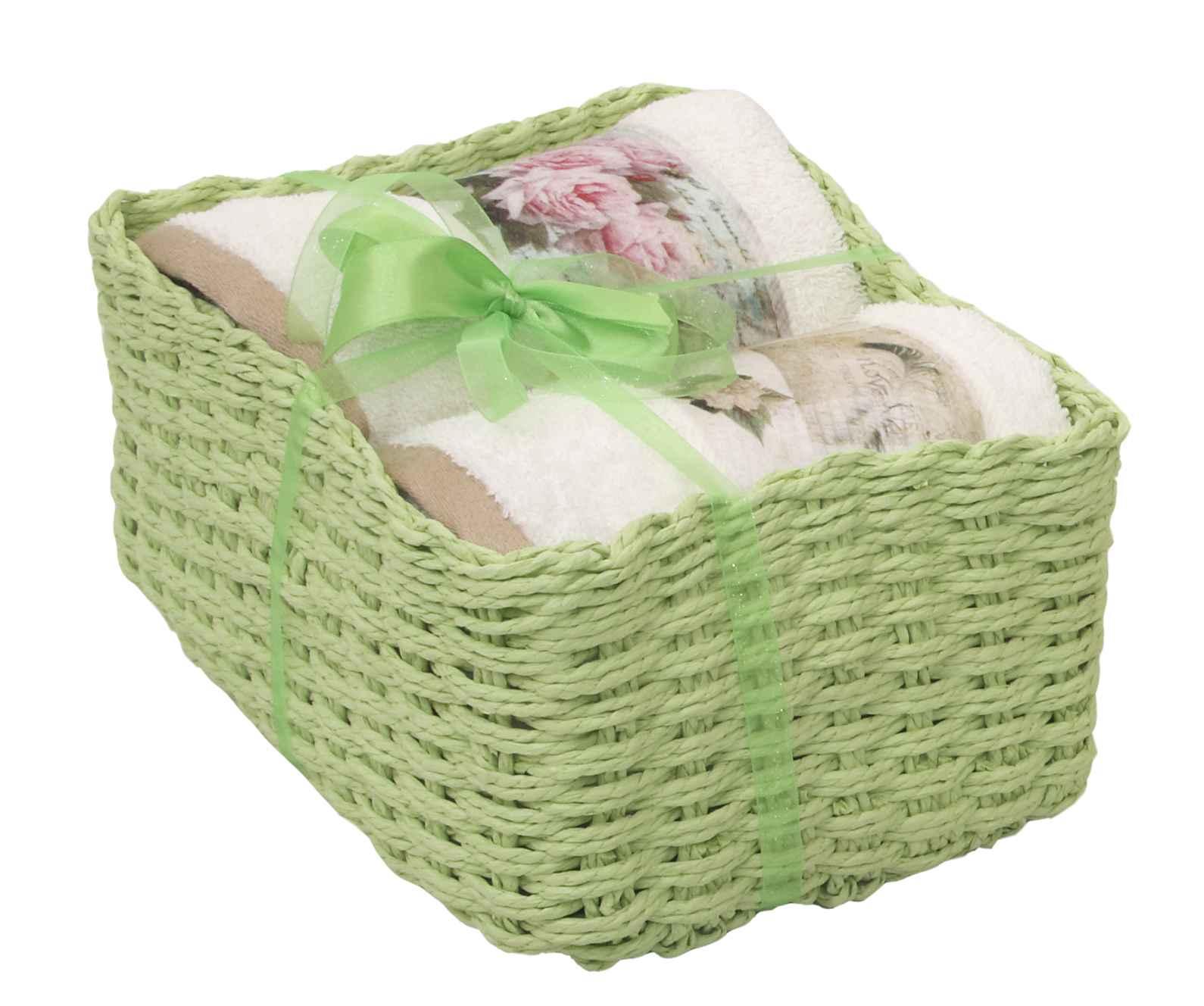 Πετσέτες Σετ 2τμχ. Καλαθάκι Δώρου 131 Green Viopros Σετ Πετσέτες 50x100cm