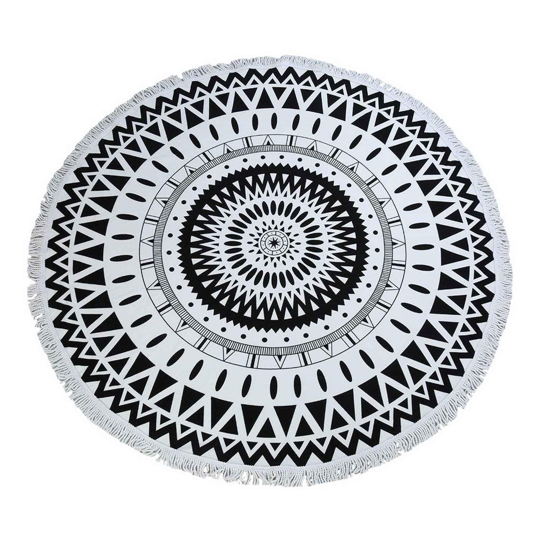 Πετσέτα Θαλάσσης Βελουτέ 204 Black Viopros Θαλάσσης Φ150