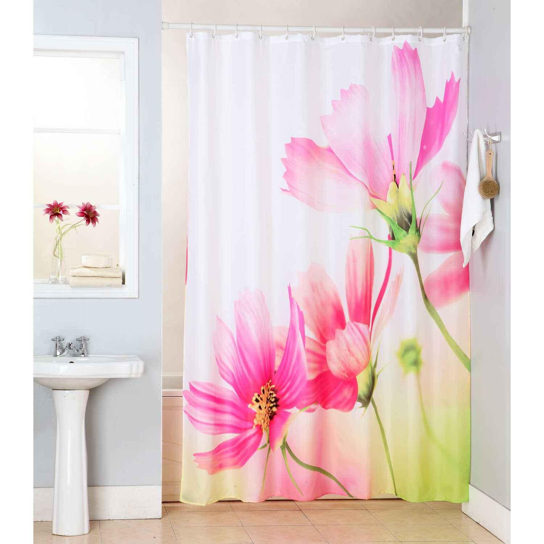 Κουρτίνα Μπάνιου Νταίζη Pink 180χ200cm Viopros Φάρδος 180cm 180x200cm