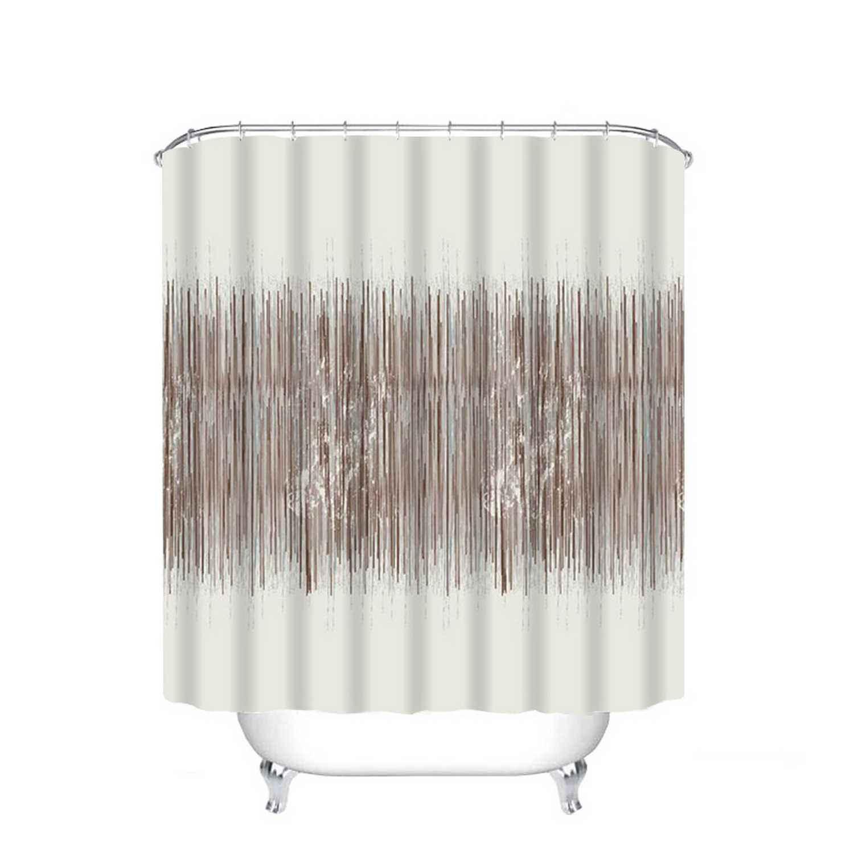 Κουρτίνα Μπάνιου Μάντισον White-Brown 180χ180cm Viopros Φάρδος 180cm 180x180cm