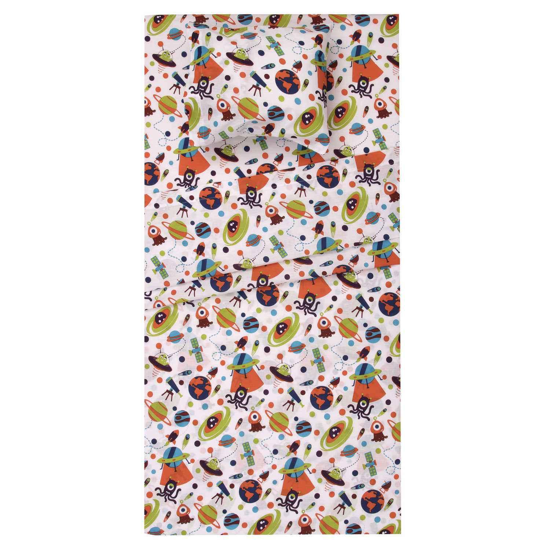 Κουβερτώριο Παιδικό Σετ 2τμχ. Αλιεν White-Multi Viopros 180x240cm