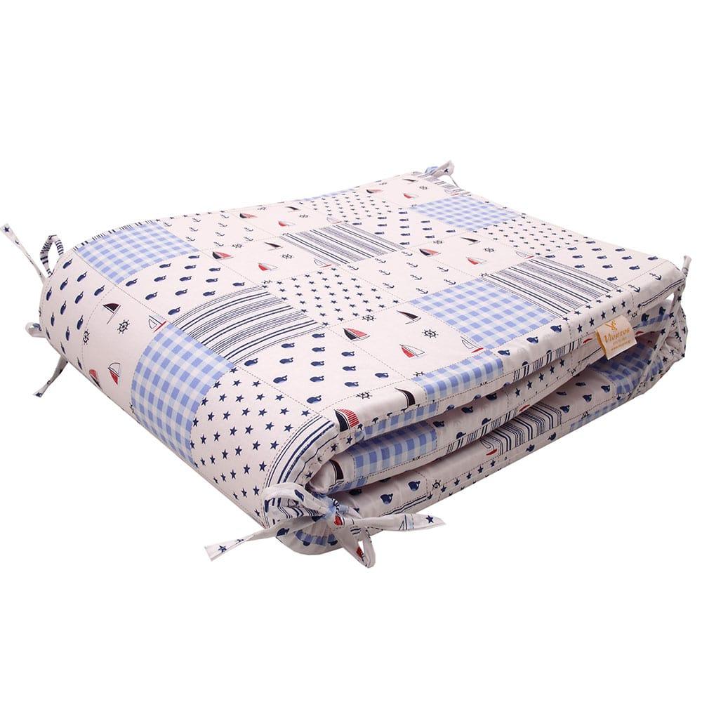 Πάντα Κούνιας Κρούζ White-Blue Viopros 40x165cm
