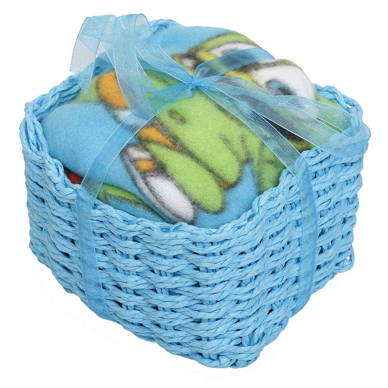 Καλαθάκι Δώρου Κουβέρτα Gummy Bear Σιέλ Viopros Κούνιας 110x150cm