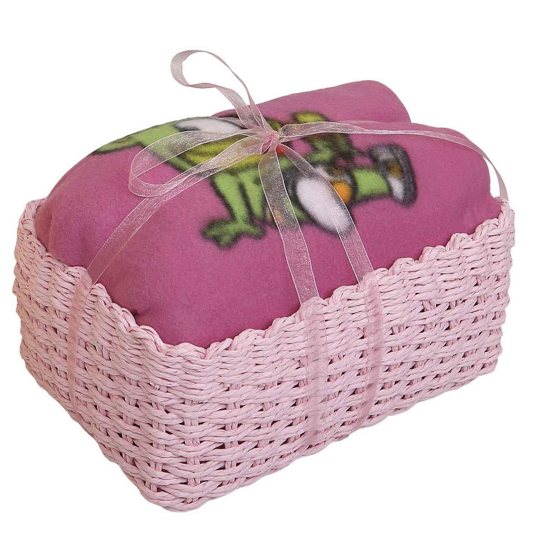 Καλαθάκι Δώρου Κουβέρτα Gummy Bear Ροζ Viopros ΑΓΚΑΛΙΑΣ 75x110cm