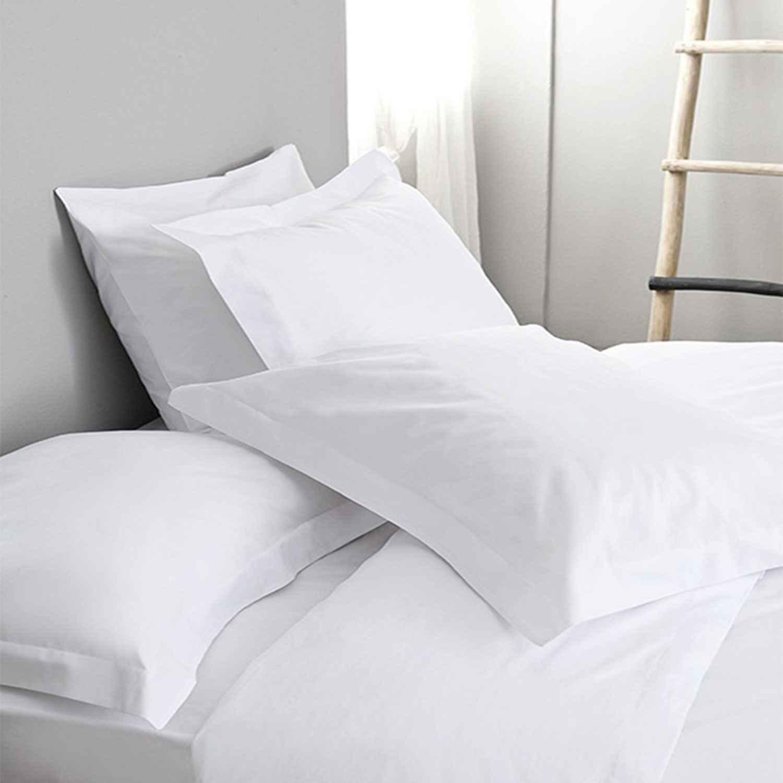 Σεντόνι Ξενοδοχείου White 144 Κλωστές 50% Βαμβάκι 50% Πολυέστερ Υπέρδιπλo 240x260cm
