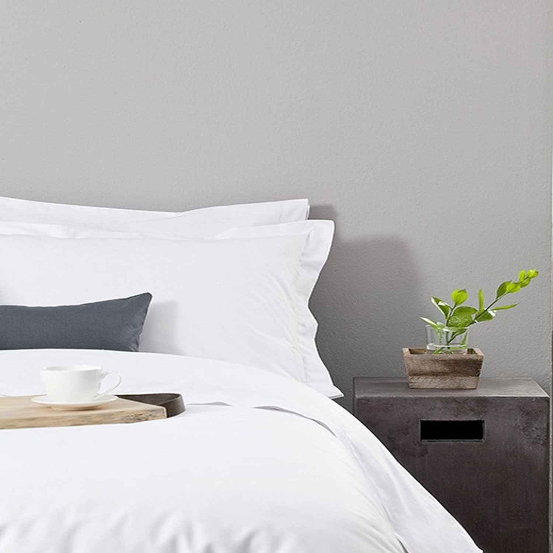 Σεντόνι Ξενοδοχείου White 180 Κλωστές Cvc 60% Βαμβάκι 40% Πολυέστερ Υπέρδιπλo 240x280cm