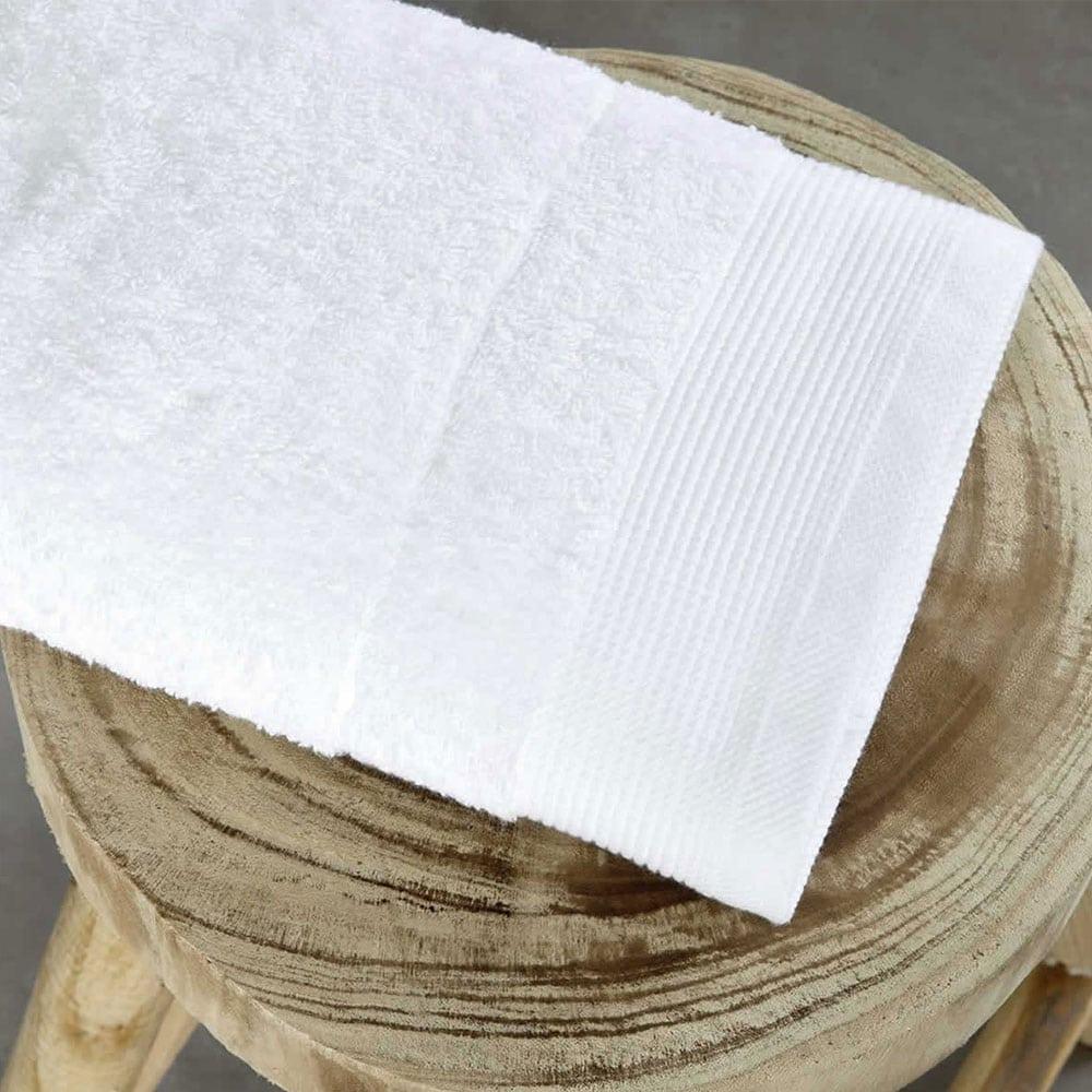 Πετσέτα Ξενοδοχείου White Πενιέ 700gsm 100% Βαμβάκι Προσώπου 50x100cm