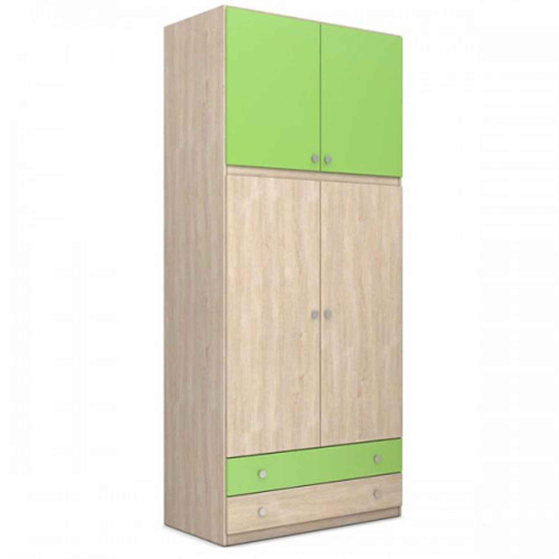 Ντουλάπα 25-112 Green 100Χ240Χ60cm Biomel Δίφυλλη