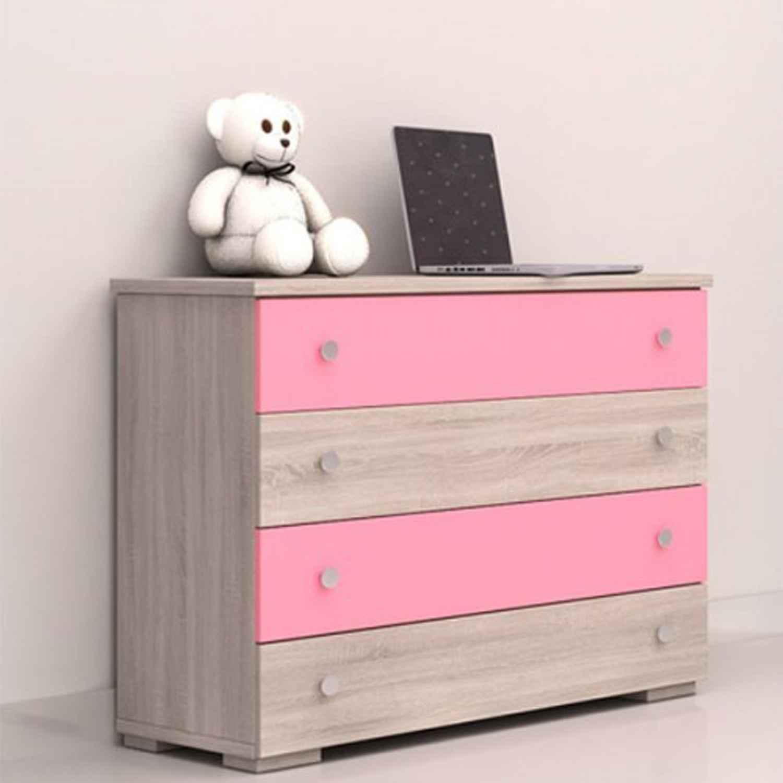 Συρταριέρα 25-301 Pink 90X75X45cm Biomel