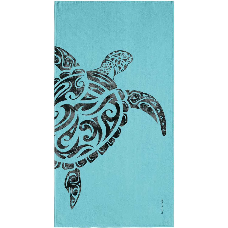 Πετσέτα Θαλάσσης Velour Printed 1806 Turquoise Guy Laroche Θαλάσσης 90x180cm