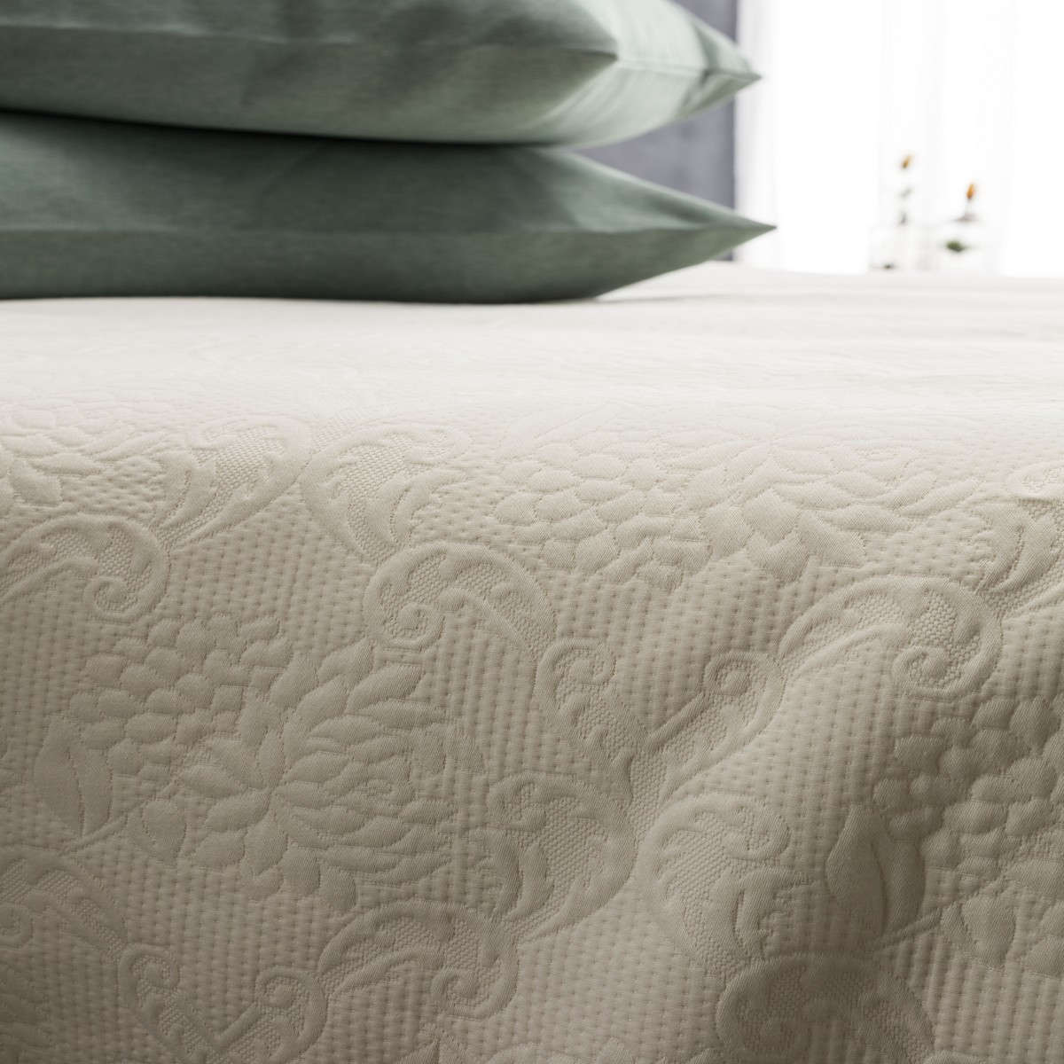 Κουβέρτα 1068 Πικέ Ecru Vesta Home Μονό 170x250cm