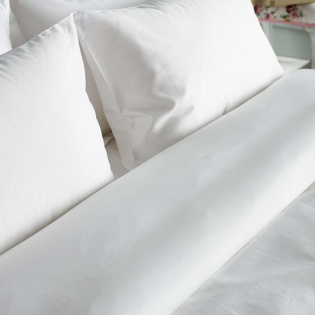 Παπλωματοθήκη Πέρσα White Vesta Home Υπέρδιπλo 260x240cm