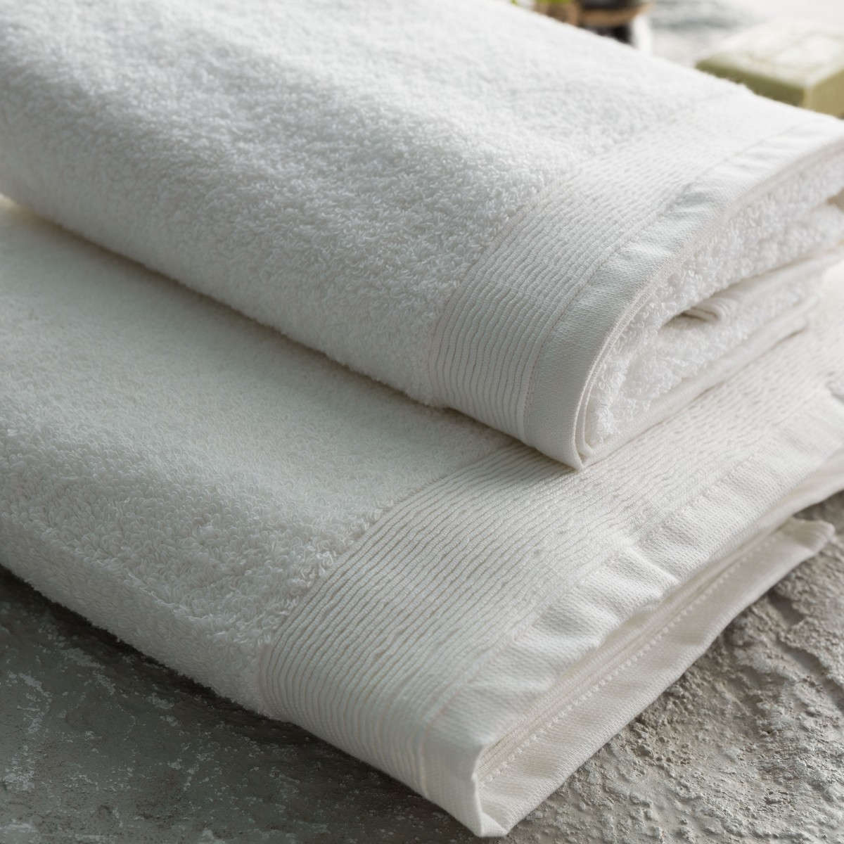 Πετσέτα Σετ 2τμχ White Vesta Home Σετ Πετσέτες