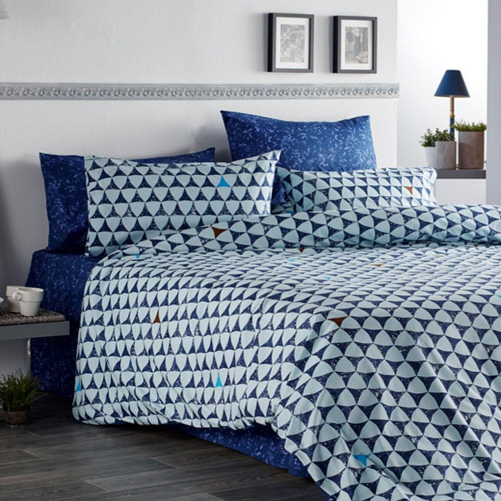 Κουβερλί Irida-1 Blue Vesta Home Υπέρδιπλo 220x230cm