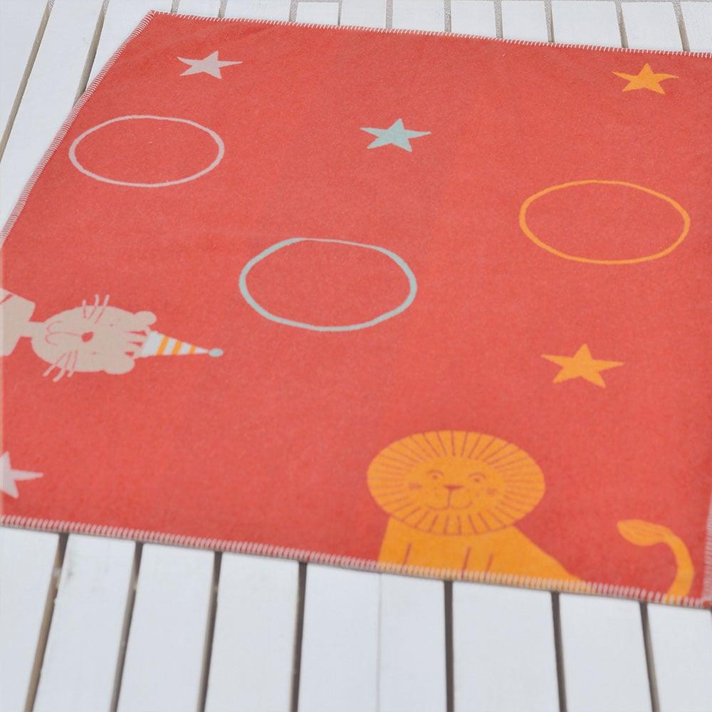 Κουβέρτα Βρεφική DF-LILI 6631-11 Red Vesta Home Κούνιας 100x140cm