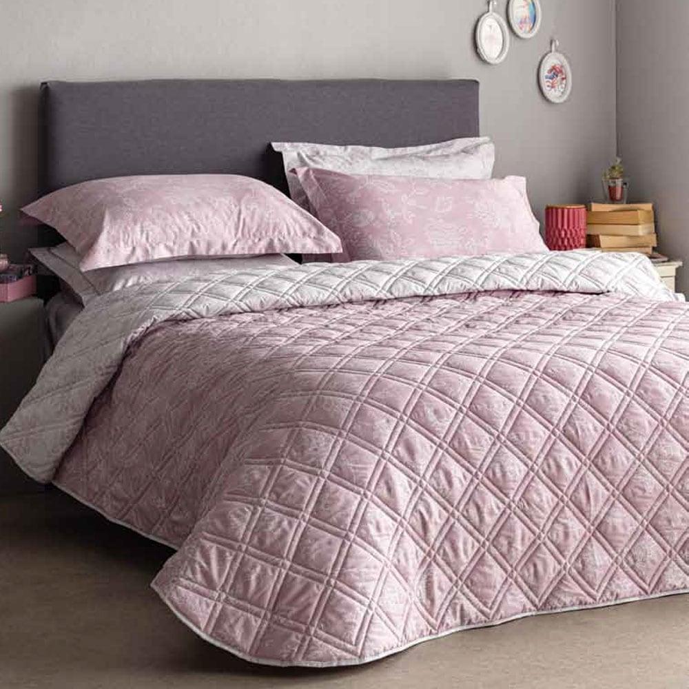 Κουβερλί 230Χ270 Pink Como-2 Vesta Home Υπέρδιπλo 230x270cm