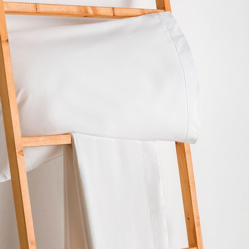Σεντόνι Με Λάστιχο White Vesta Home Ημίδιπλο 120x230cm