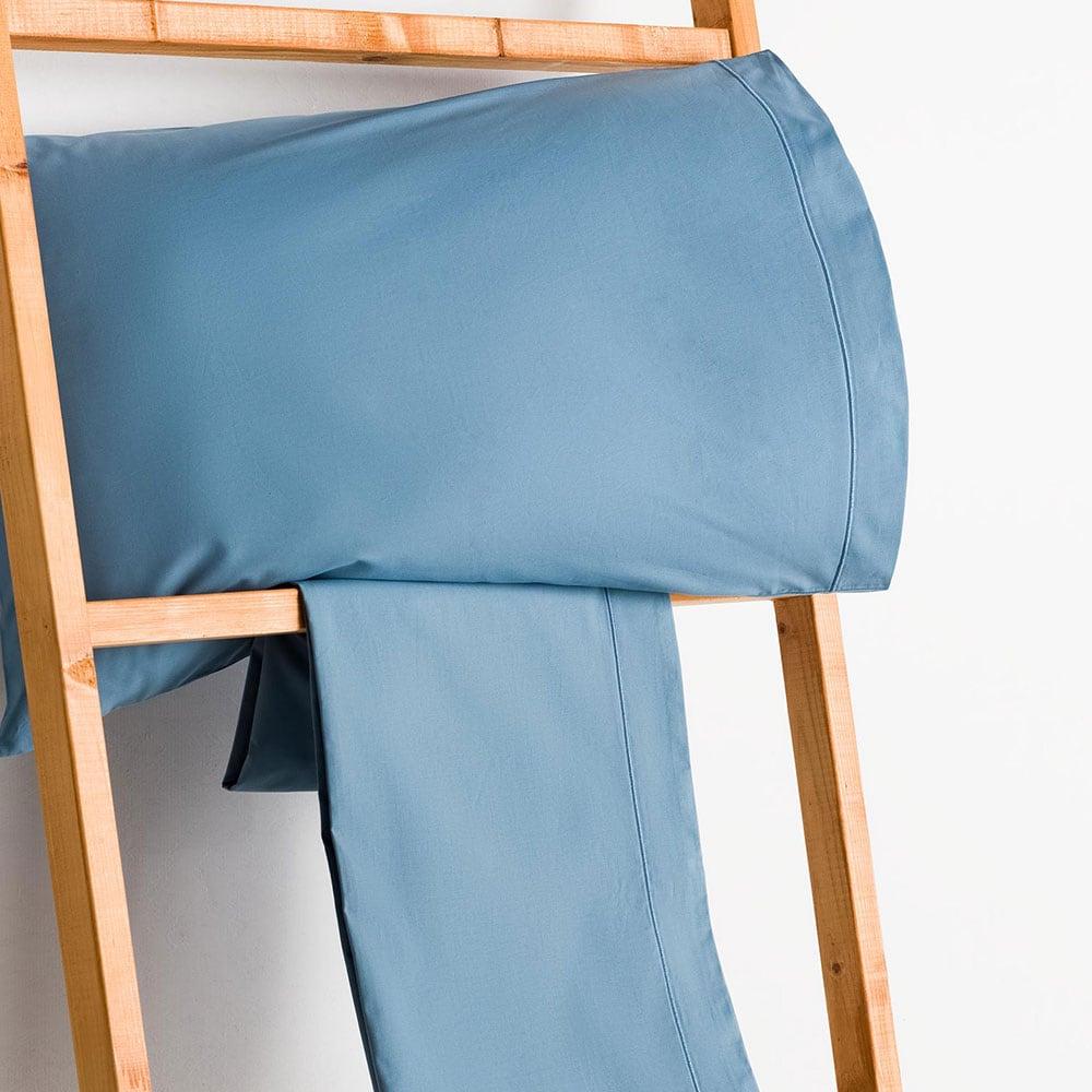 Σεντόνι Με Λάστιχο Blue Vesta Home Μονό 100x230cm