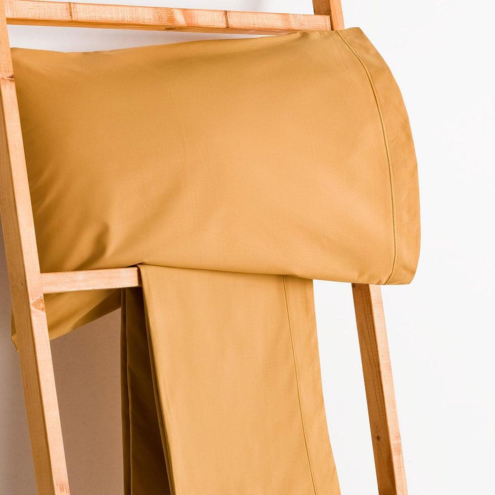Σεντόνι Με Λάστιχο Mustard Vesta Home Μονό 100x230cm