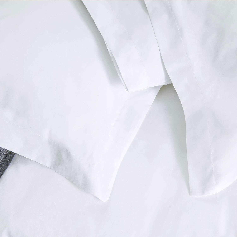 Μαξιλαροθήκη Ξενοδοχείου Oxford 4 Πλευρών White 200 Κλωστές Περκάλι 100% Βαμβάκι 55X75 52x75cm
