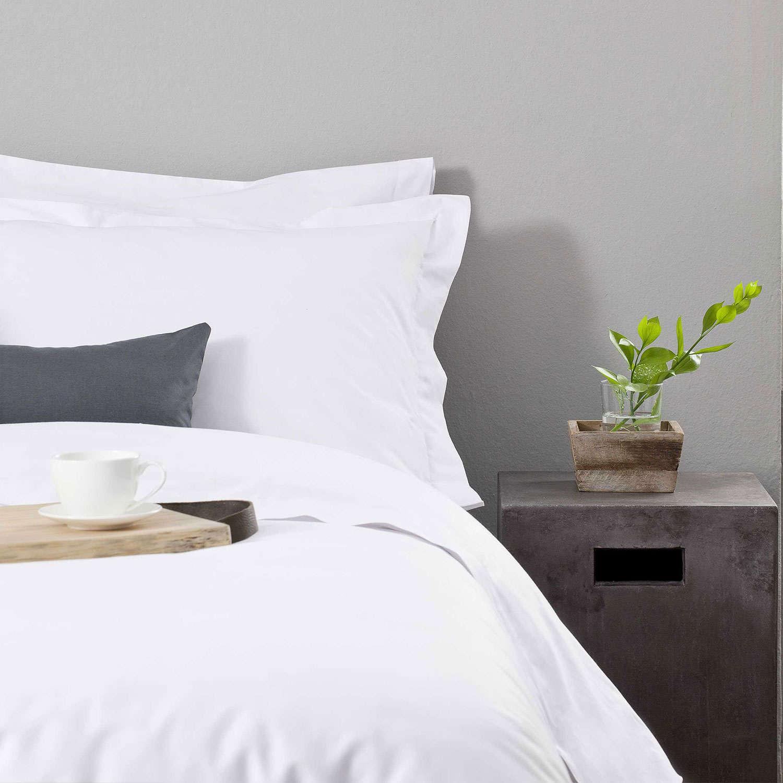 Παπλωματοθήκη Ξενοδοχείου White Flap 200 Κλωστές Περκάλι 50% Βαμβάκι Πενιέ 50% Πολυέστερ Μονό 170x240cm