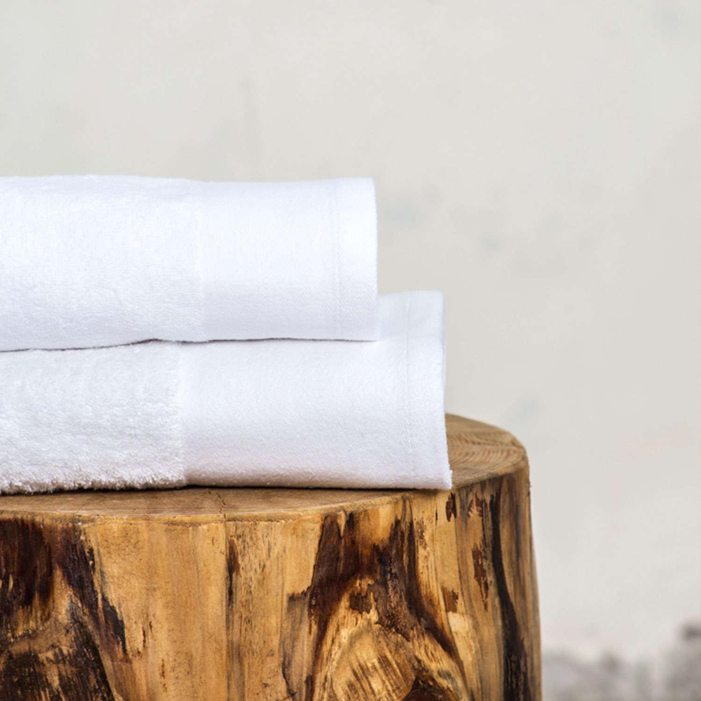Πετσέτα Ξενοδοχείου White 600gsm 100% Βαμβάκι Προσώπου 50x100cm