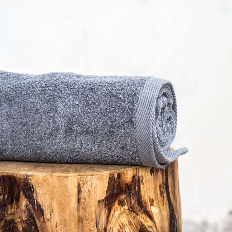 Πετσέτα Ξενοδοχείου Grey VAT Dyed 460gsm 100% Βαμβάκι Σώματος 70x140cm