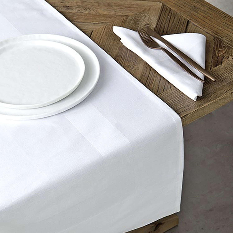 Πετσέτα Φαγητού Ξενοδοχείου με Σατέν Μπορντούρα White 100% Βαμβάκι 53x53cm