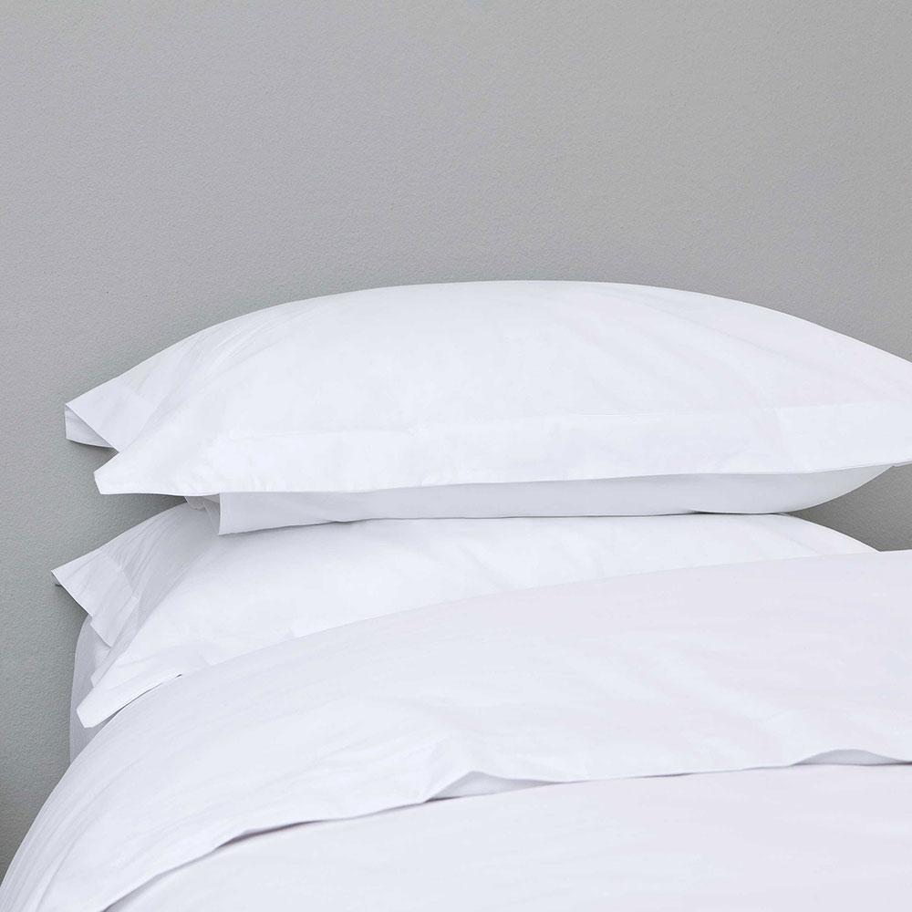Μαξιλαροθήκη Ξενοδοχείου Oxford 4 Πλευρών White 144 Κλωστές 100% Βαμβάκι 55X75 52x75cm