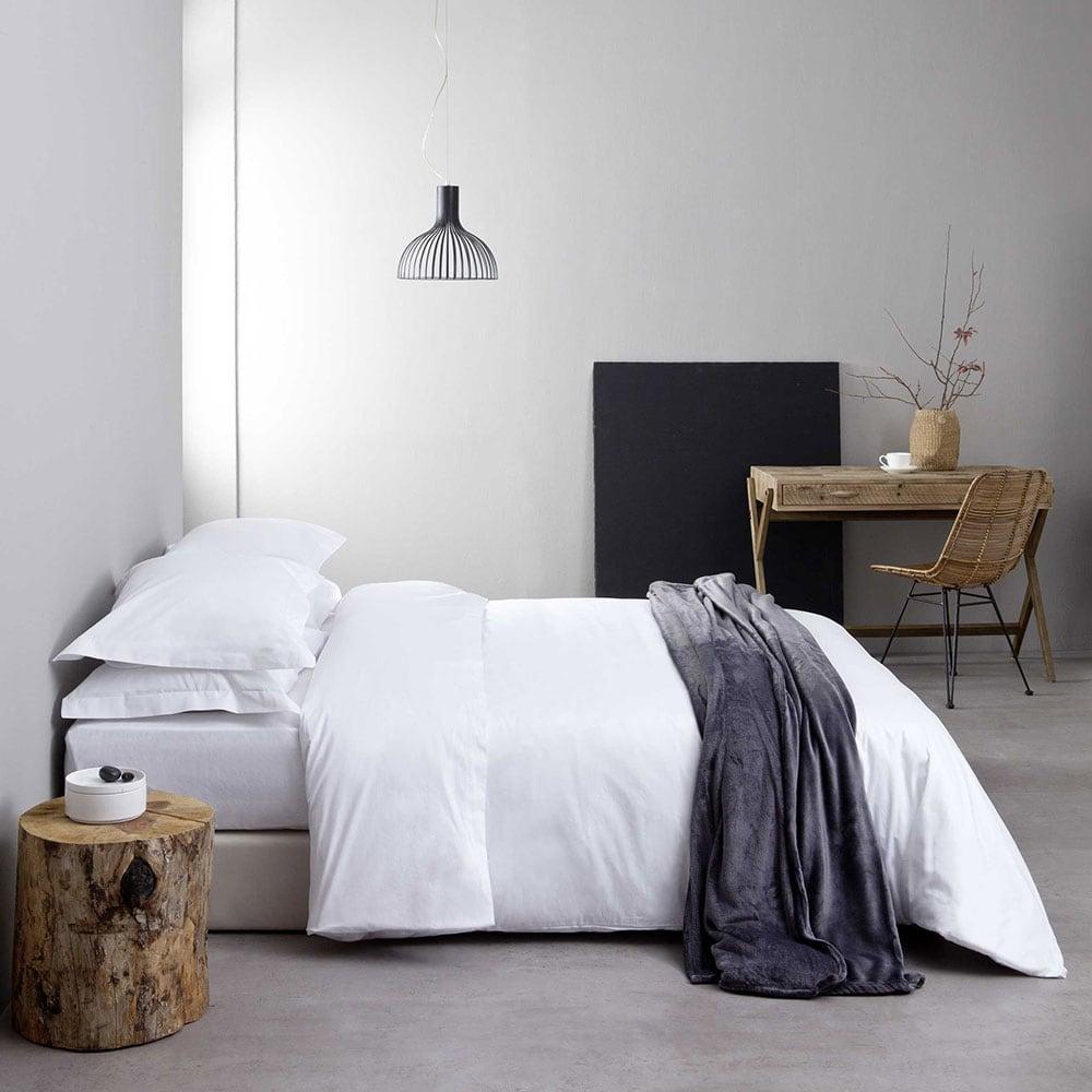 Μαξιλαροθήκη Ξενοδοχείου Oxford 4 Πλευρών White 300 Κλωστές Σατέν 100% Βαμβάκι Πενιέ 55X75 52x75cm