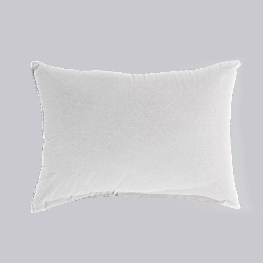 Μαξιλάρι Ξενοδοχείου White 144 κλωστές 100% Βαμβάκι Περιεχόμενο Hollowfiber 700gr. 50Χ70 50x70cm