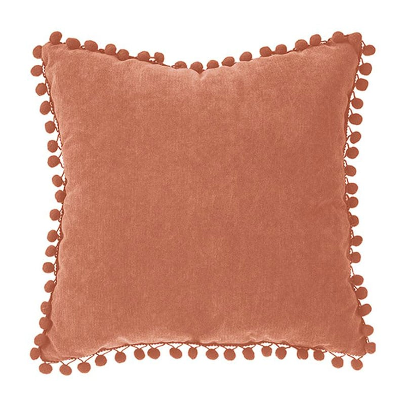 Μαξιλάρι Διακοσμητικό (Με Γέμιση) Pon-Pon 07.131656N Maroon 40Χ40 Polyester-Polyamid