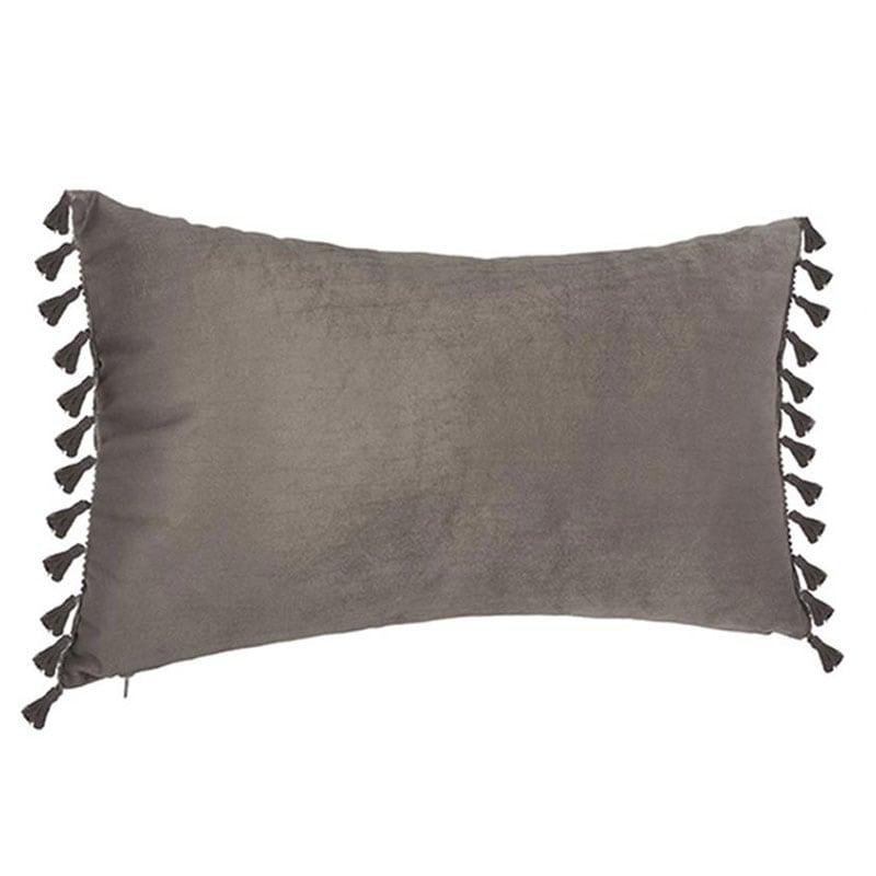 Μαξιλάρι Διακοσμητικό (Με Γέμιση) Βελούδινο 07.156133B Grey 30Χ50 100% Polyester