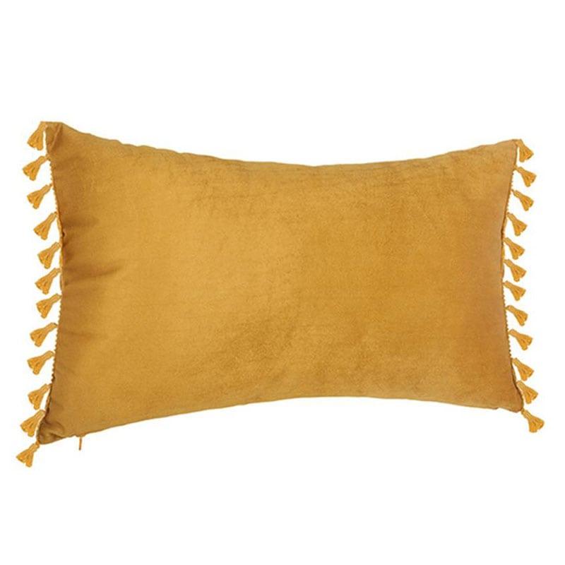 Μαξιλάρι Διακοσμητικό (Με Γέμιση) Βελούδινο 07.156133R Gold 30Χ50 100% Polyester