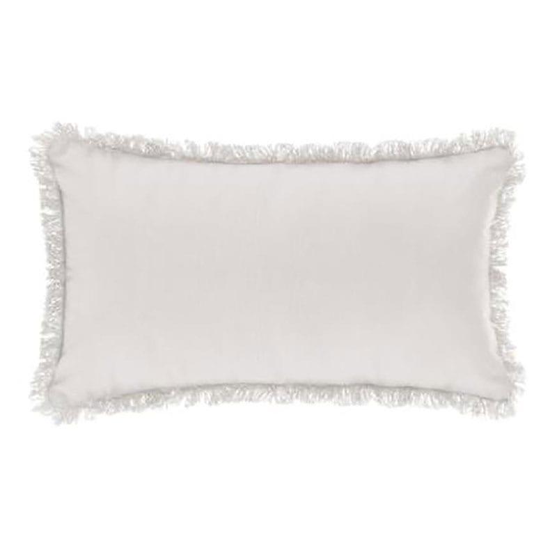 Μαξιλάρι Διακοσμητικό (Με Γέμιση) Με Κρόσια 07.164053A White 30Χ50 Βαμβάκι-Polyester