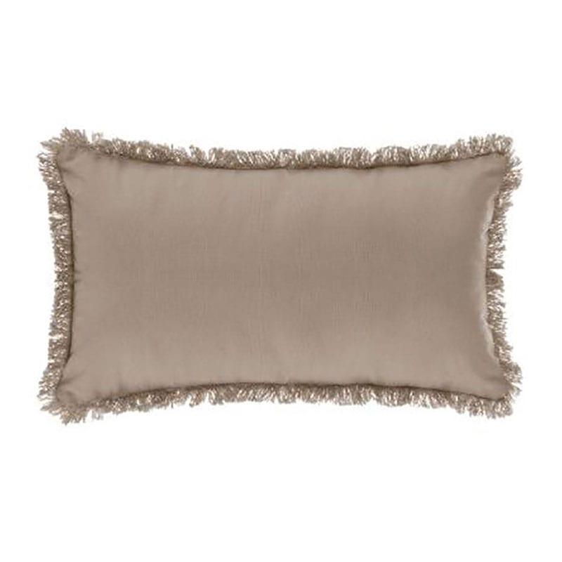 Μαξιλάρι Διακοσμητικό (Με Γέμιση) Με Κρόσια 07.164053D Beige 30Χ50 Βαμβάκι-Polyester