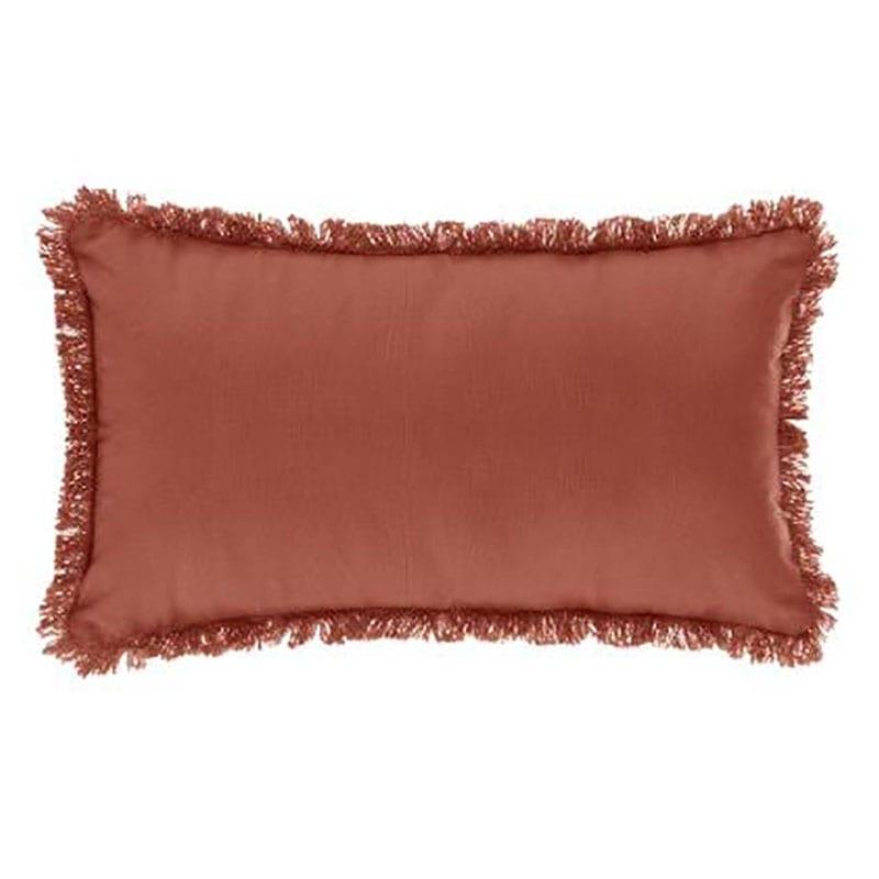 Μαξιλάρι Διακοσμητικό (Με Γέμιση) Με Κρόσσια 07.164053N Brown 30Χ50 Βαμβάκι-Polyester