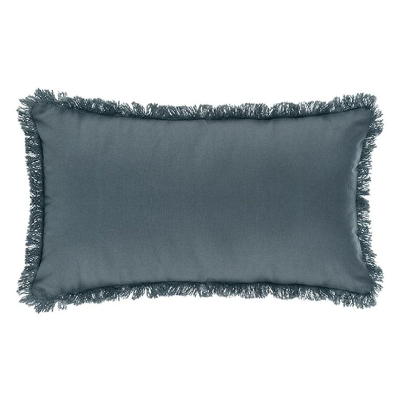 Μαξιλάρι Διακοσμητικό (Με Γέμιση) Με Κρόσια 07.164053O Blue 30Χ50 Βαμβάκι-Polyester