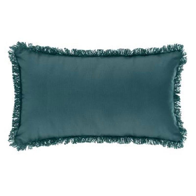 Μαξιλάρι Διακοσμητικό (Με Γέμιση) 07.164053Q Peacock Blue 30Χ50 Βαμβάκι-Polyester