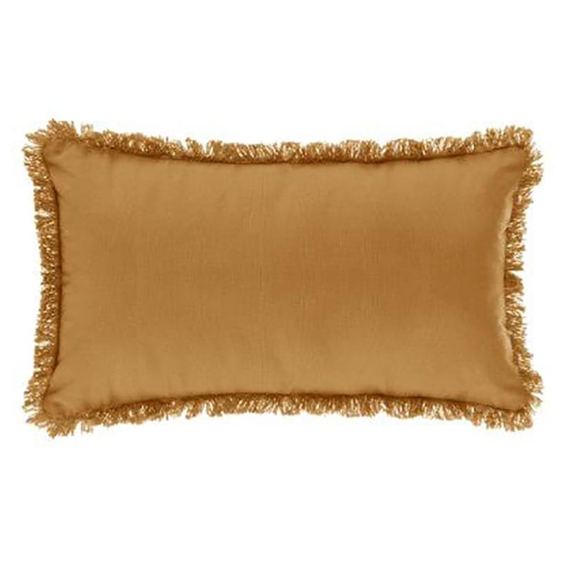 Μαξιλάρι Διακοσμητικό (Με Γέμιση) Με Κρόσσια 07.164053R Gold 30Χ50 Βαμβάκι-Polyester