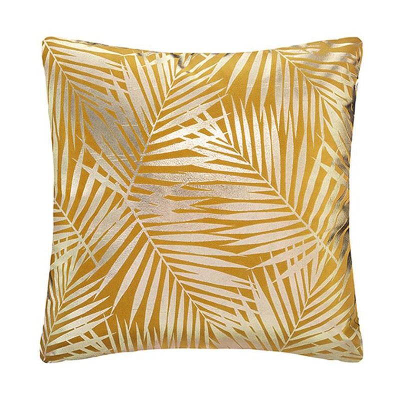 Μαξιλάρι Διακοσμητικό (Με Γέμιση) Φύλλα 07.164098R Gold 40Χ40 100% Polyester