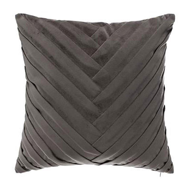 Μαξιλάρι Διακοσμητικό (Με Γέμιση) Βελούδινο 07.164108L Grey 40Χ40 100% Polyester
