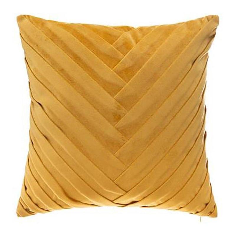 Μαξιλάρι Διακοσμητικό (Με Γέμιση) Βελούδινο 07.164108R Gold 40Χ40 100% Polyester