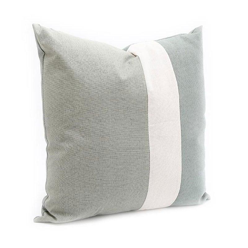 Μαξιλάρι Διακοσμητικό (Με Γέμιση) 014.EU0051 Green-White 40Χ40 Βαμβάκι-Polyester