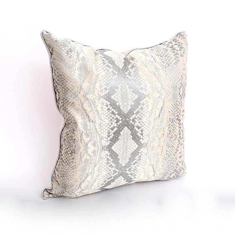 Μαξιλάρι Διακοσμητικό (Με Γέμιση) 014.TX1219 Ecru-Grey 45X45 Βαμβάκι-Polyester