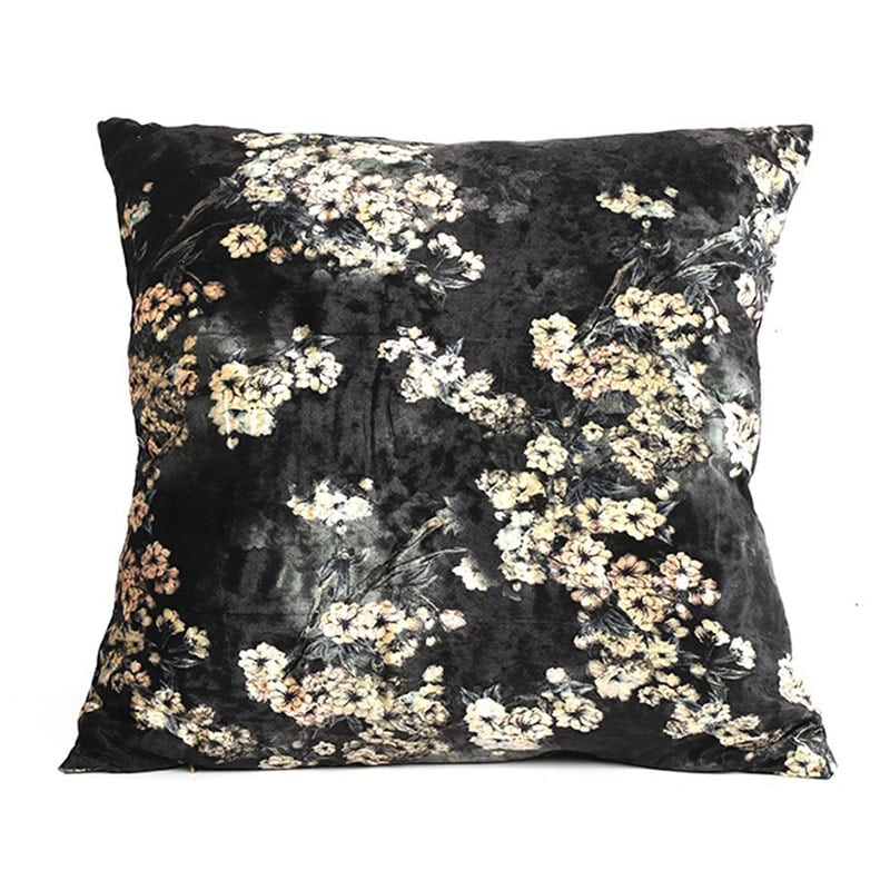 Μαξιλάρι Διακοσμητικό (Με Γέμιση) Flower 013.777457 Anthracite-Ecru 50X50 Βαμβάκι-Polyester