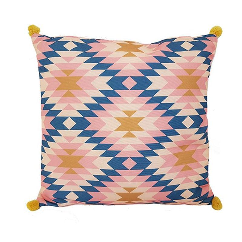 Μαξιλάρι Διακοσμητικό (Με Γέμιση) Hippie 07.161918 Pink-Blue 40Χ40 Βαμβάκι-Polyester