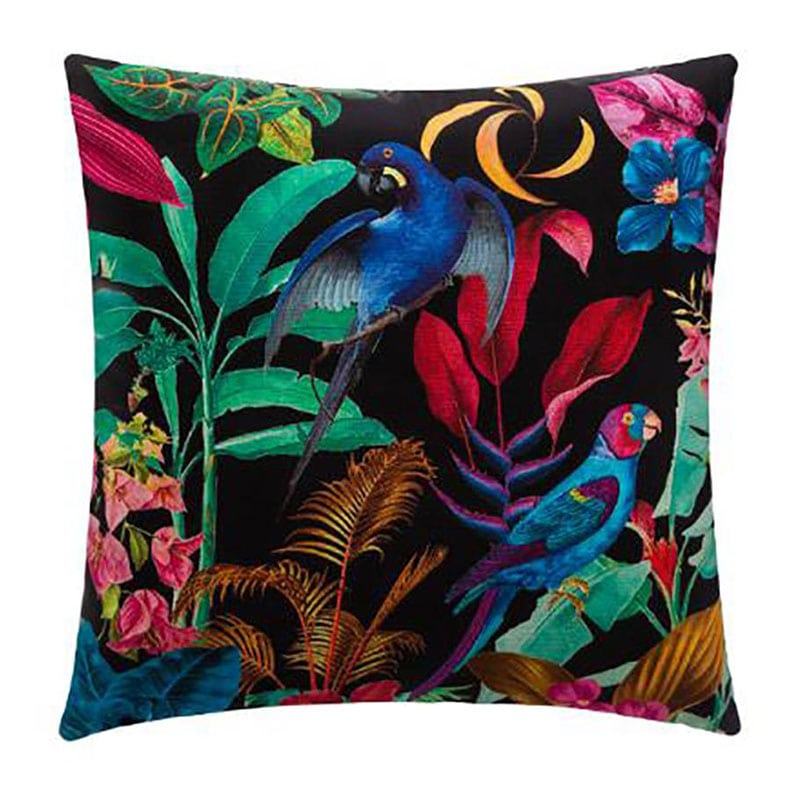Μαξιλάρι Διακοσμητικό (Με Γέμιση) Jungle 07.172140 Black-Multi 40Χ40 Βαμβάκι-Polyester