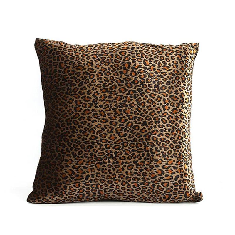 Μαξιλάρι Διακοσμητικό (Με Γέμιση) Leopard 013.777450 Brown 40Χ40 Βαμβάκι-Polyester