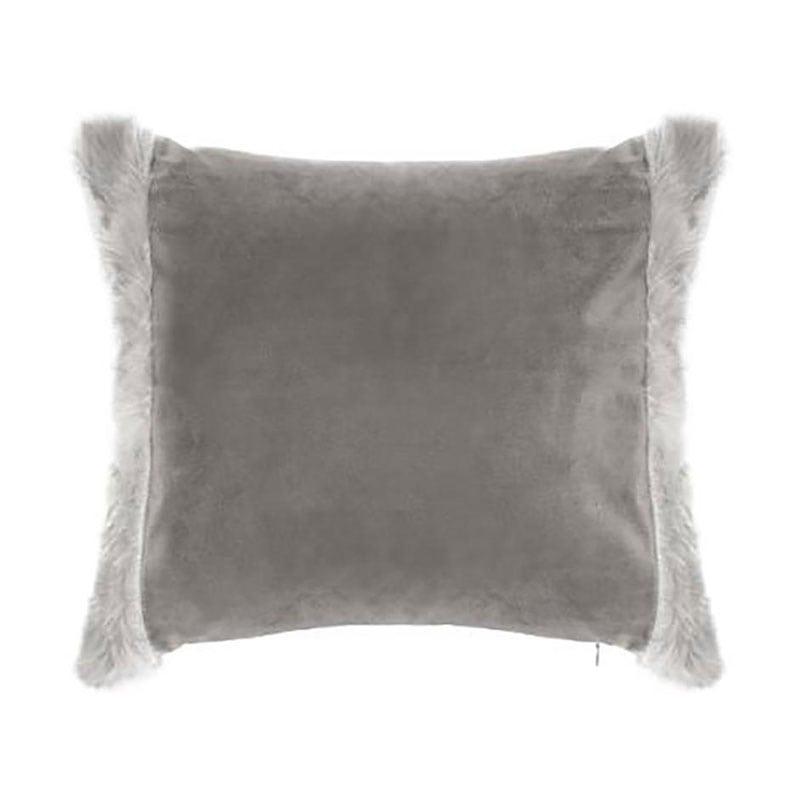 Μαξιλάρι Διακοσμητικό (Με Γέμιση) Με Γούνα 07.163021 Grey 40Χ40 100% Polyester